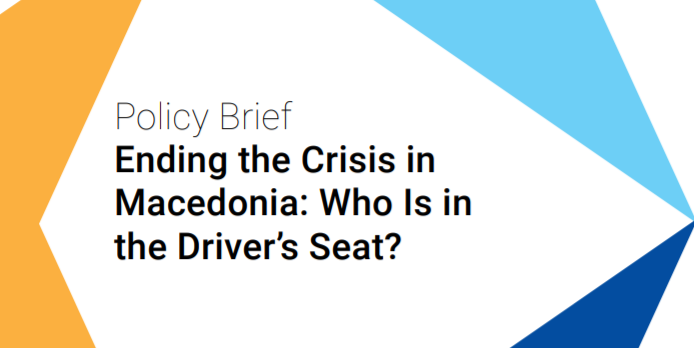 """Latest BiEPAG Policy Brief """"Ending the Crisis in Macedonia: Who Is in the Driver's Seat?"""" was presented in Macedonia on April 4-5, 2016"""