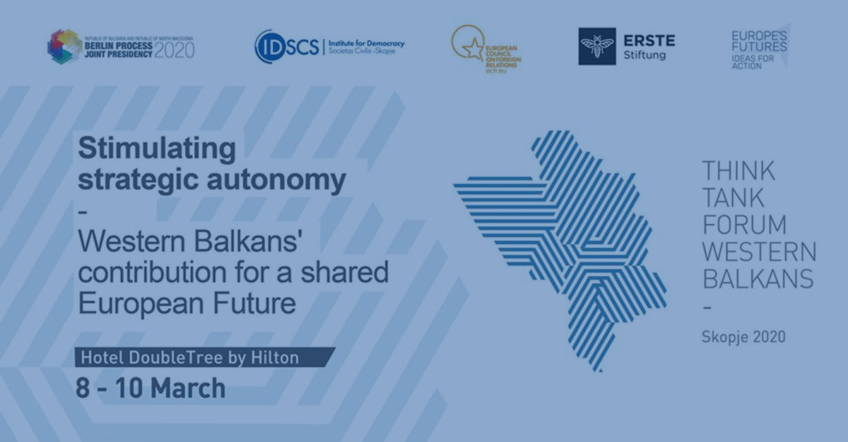 BiEPAG Experts at the Western Balkans Think Tank Forum in Skopje, 8-10 of March, 2020